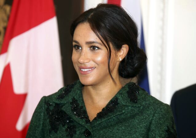 Britain's Meghan, Duchess of Sussex attends the Commonwealth Day Youth Event with Prince Harry, at Canada House in London, Monday, March 11, 2019.