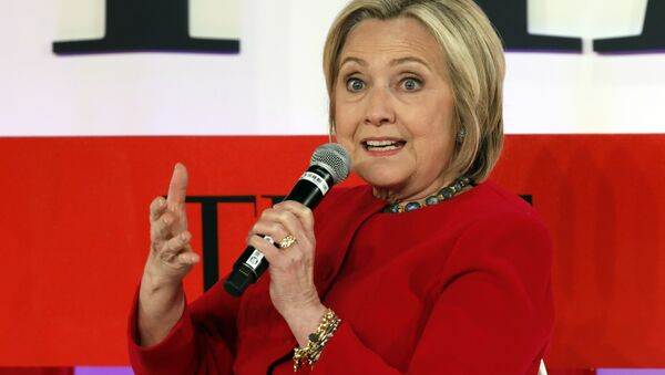 Hillary Clinton speaks during the TIME 100 Summit, in New York, Tuesday, April 23, 2019 - Sputnik International