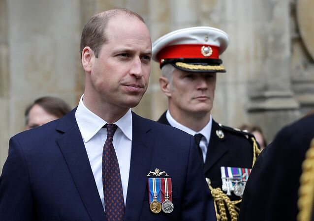 Prince William, Duke of Cambridge leaves after attending a service to honor submarine crews for 50 years of continuous at sea deterrent, at Westminster Abbey in London, Britain May 3, 2019.