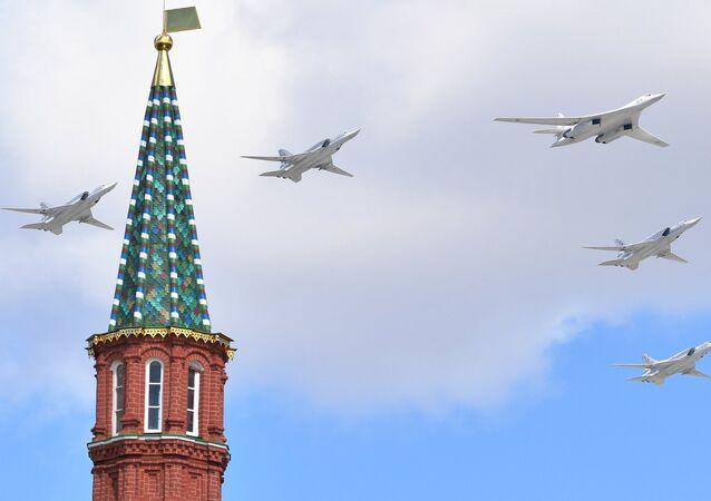 Tu-160 during V-Day parade rehearsal