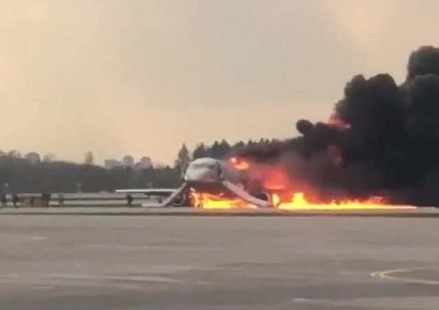 Fire at Sheremetyevo airport