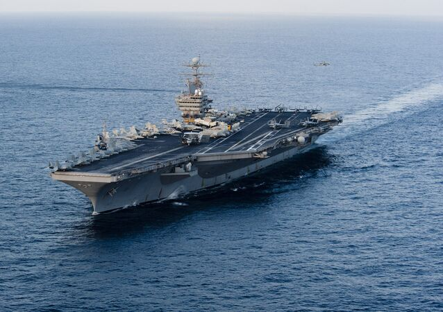 USS Abraham Lincoln transiting the Arabian Sea, file photo.