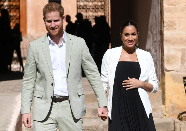 Britain's Meghan, Duchess of Sussex and Prince Harry the Duke of Sussex visit the Andalusian Gardens in Rabat, Morocco February 25, 2019