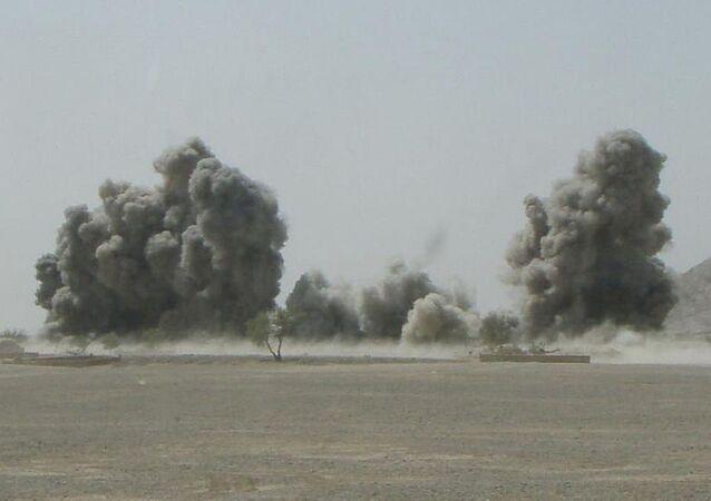 An airstrike in Afghanistan