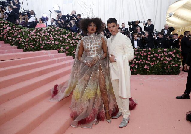 Metropolitan Museum of Art Costume Institute Gala - Met Gala - Camp: Notes on Fashion - Arrivals - New York City, U.S. - May 6, 2019 - Priyanka Chopra and Nick Jonas
