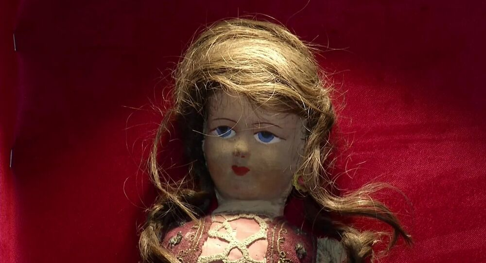 Doll with hair from Jewish Holocaust victim