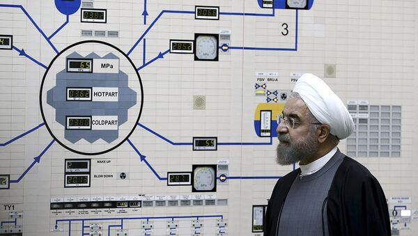 In this Jan. 13, 2015, file photo released by the Iranian President's Office, President Hassan Rouhani visits the Bushehr nuclear power plant just outside of Bushehr, Iran - Sputnik International