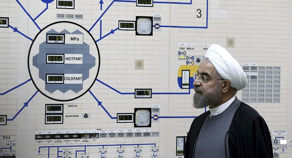 In this Jan. 13, 2015, file photo released by the Iranian President's Office, President Hassan Rouhani visits the Bushehr nuclear power plant just outside of Bushehr, Iran