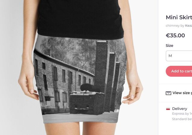 Redbubble is selling Auschwitz mini skirt