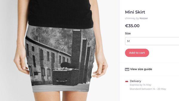 Redbubble is selling Auschwitz mini skirt - Sputnik International