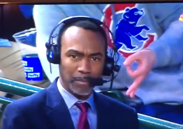 US Baseball Fan Flashes Apparent White Power Sign on Air