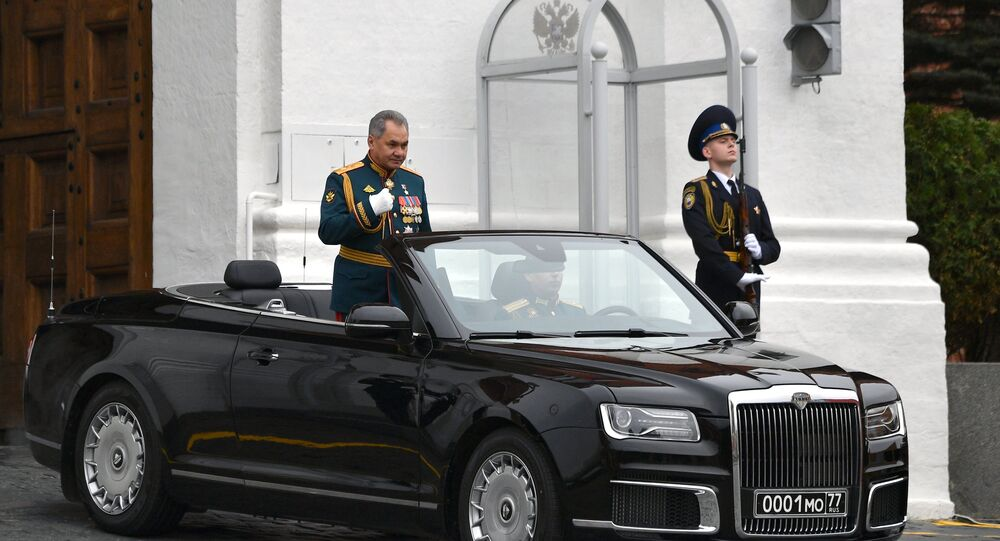 Shoigu at the military parade