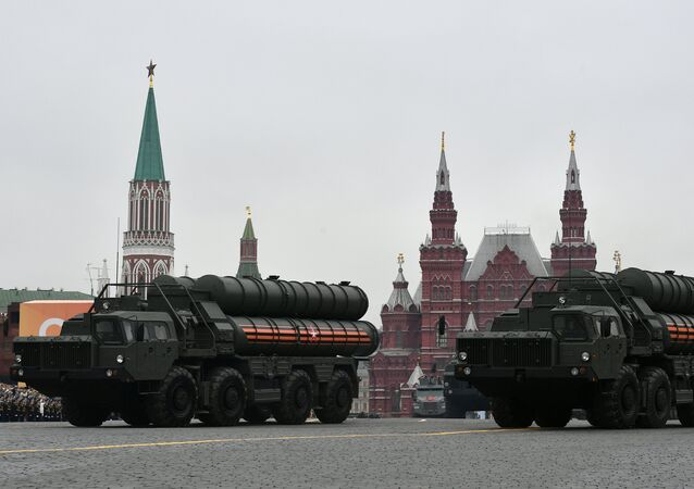 The S-400 missile systems during a military parade in Moscow on 9 May, 2019
