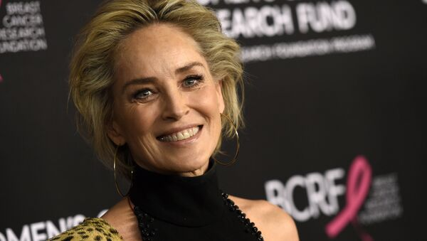 Actress Sharon Stone poses at An Unforgettable Evening benefiting the Women's Cancer Research Fund, at the Beverly Wilshire Hotel, Thursday, Feb. 28, 2019, in Beverly Hills, Calif. - Sputnik International