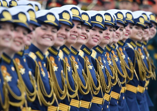 Women Servicewomen During the Victory Day Parade