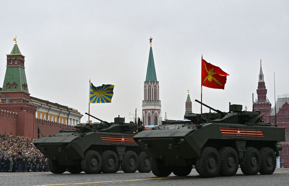 Bumerang Armoured Vehicles During the Victory Day Parade