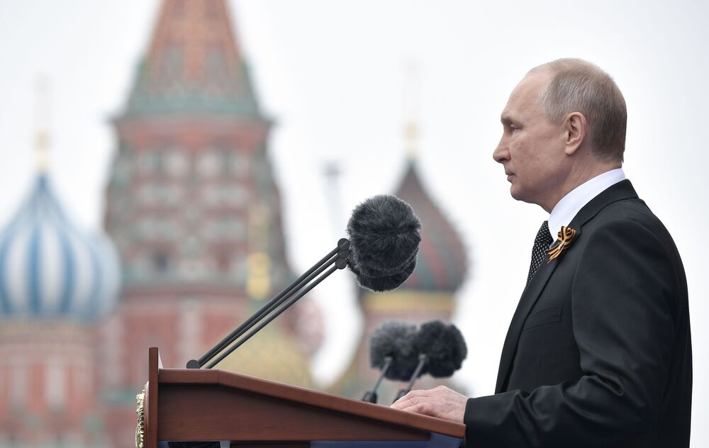 Russian President Vladimir Putin Delivers Speech