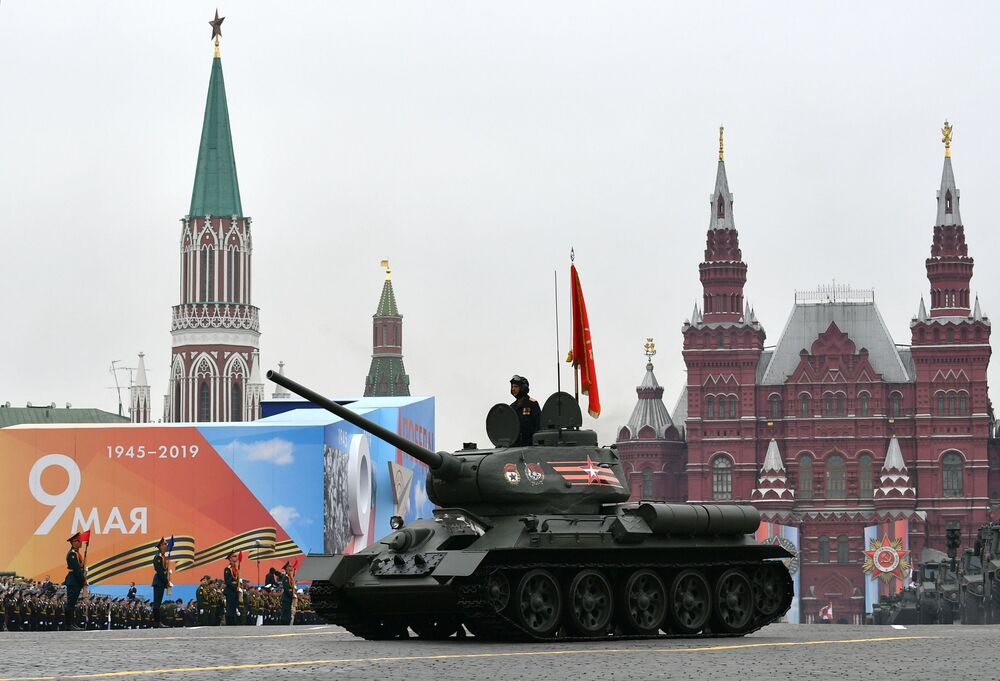 Т-34-85 Tank During the Victory Day Parade