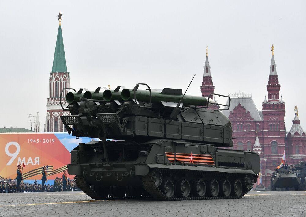 The Buk M-2 Missile System at the Red Square in Moscow