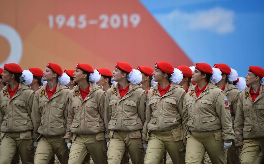 Young Army Cadets Attend the Victory Day Parade in Moscow