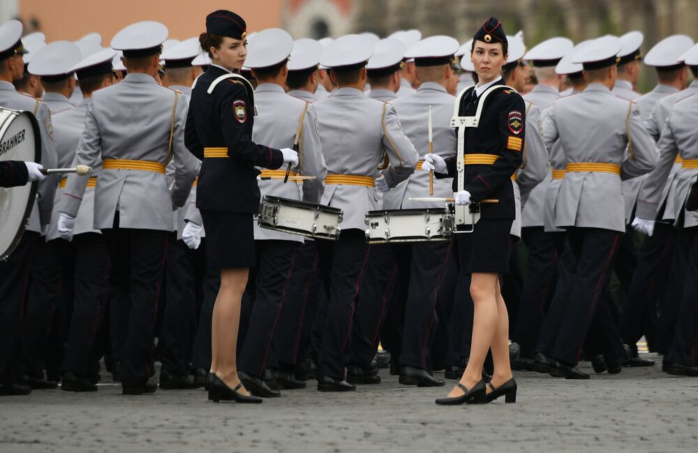 Cadets Attend the Victory Day Parade at the Red Square in Moscow