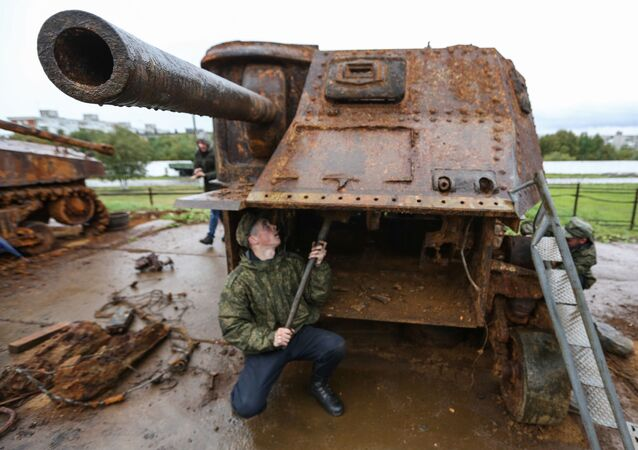 Un M3 Lee restauré à Mourmansk