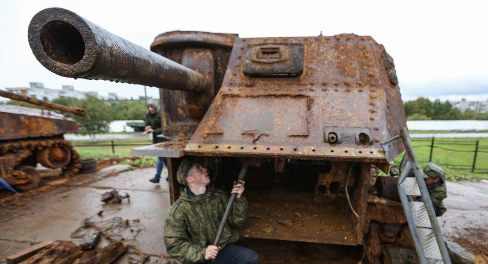 Un M3 Lee restauré à Mourmansk