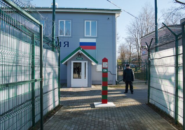 Narva 2 border point between Russia and Estonia, file photo.