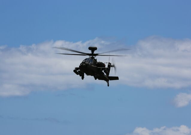 US Army Boeing AH-64E Apache helicopter landing 6/20/14