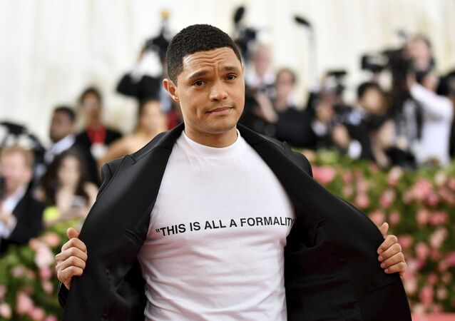 Trevor Noah attends The Metropolitan Museum of Art's Costume Institute benefit gala celebrating the opening of the Camp: Notes on Fashion exhibition on Monday, May 6, 2019, in New York