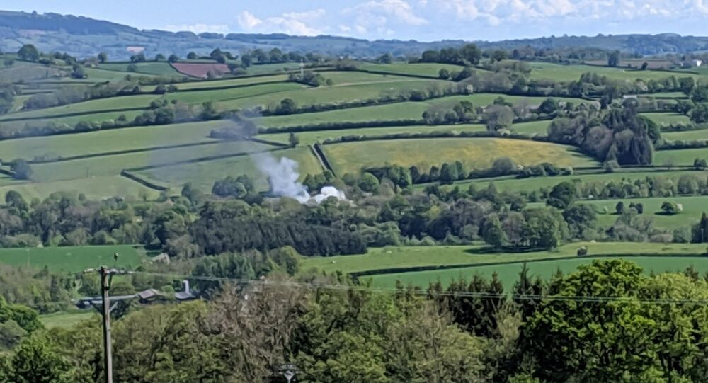 Plane has crashed on the A40 south of Abergavenny. There is a private landing strip nearby