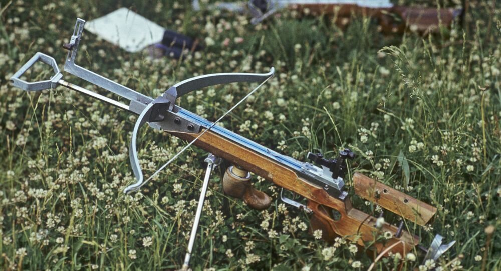 Crossbow on Grass