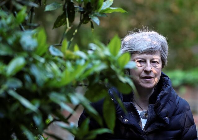 Britain's Prime Minister Theresa May arrives at church, as Brexit turmoil continues, in Sonning, Britain May 12, 2019