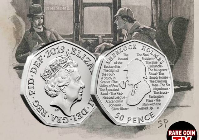 Being huge Sherlock Holmes fans (modern and classic) we are super excited about the newly announced Sherlock Holmes 50 Pence to celebrate the 160th anniversary of the birth of Sherlock Holmes' creator Sir Arthur Conan Doyle