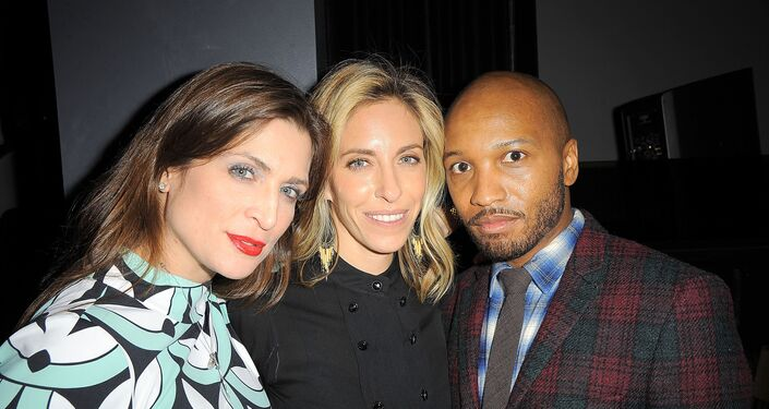 Vanessa Neumann, Nicole Hanley Mellon and Lorenzo Hill White at Party in New York
