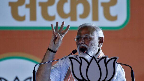India's Prime Minister Narendra Modi addresses an election campaign rally in New Delhi, India, 8 May 2019 - Sputnik International