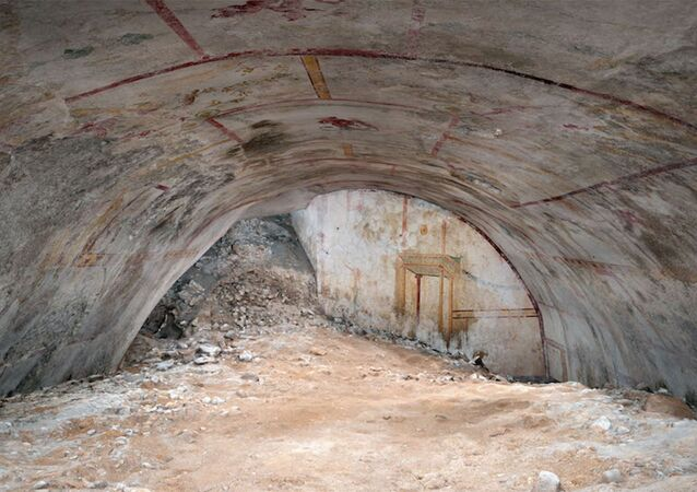 A hidden vault — filled with dirt and adorned with vivid paintings such as a centaur, a sphinx and an attacking panther — has been discovered in the ruins of Emperor Nero's ancient Roman palace