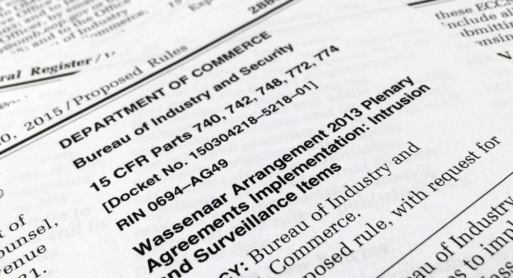 A portion of a page from the Bureau of Industry and Security (BIS) Federal Register