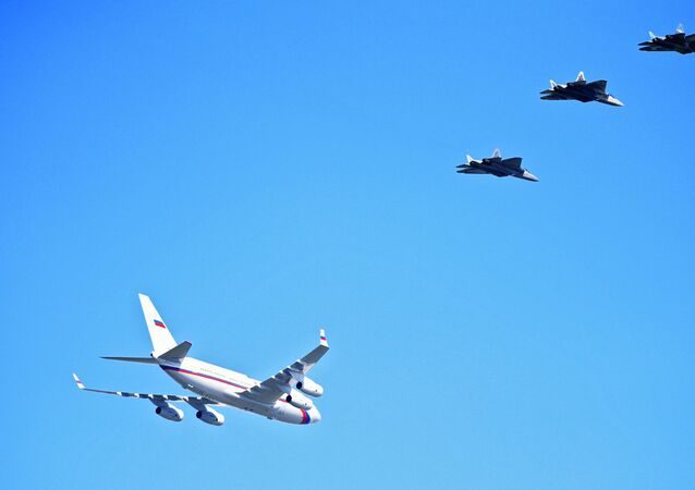 Putin's Plane Be Escorted by Six Su-57 Jets on Way to Astrakhan Region