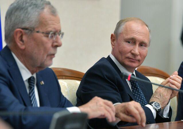 Russian President Putin Meets Austrian Counterpart Van der Bellen