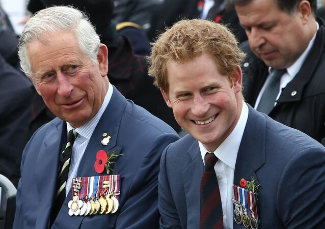 Britain's Prince Charles (L), Prince of Wales and Prince Harry attend a memorial service on the occasion of the 100th anniversary of the land campaign of the Battle of Gallipoli in Canakkale on April 25, 2015.