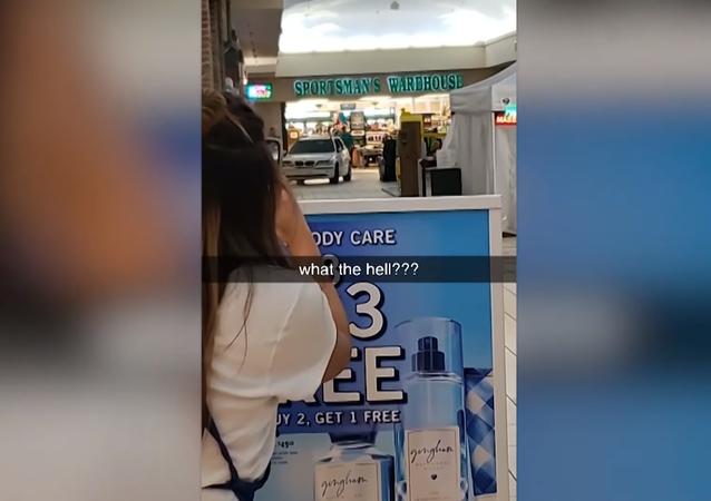 Express Lane? US Motorist Crashes Through Mall Doors, Cruises Around