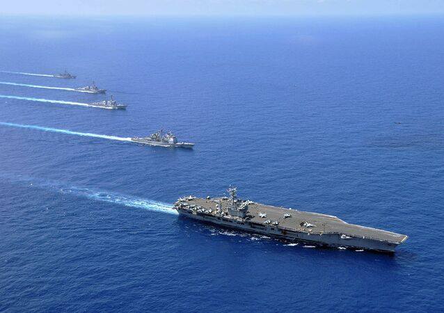 USS Nimitz, USS Chosin, USS Sampson, and USS Pinkney in South China Sea (File)