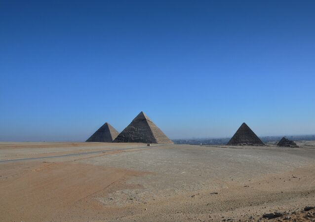 Giza pyramid complex in Egypt