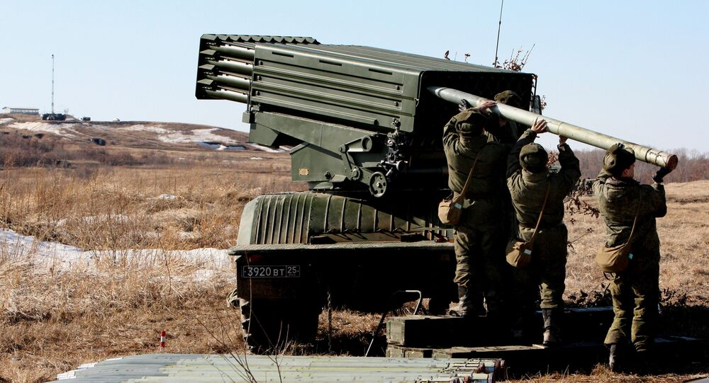Russian military drills in the Far East, Tornado universal multiple rocket launcher