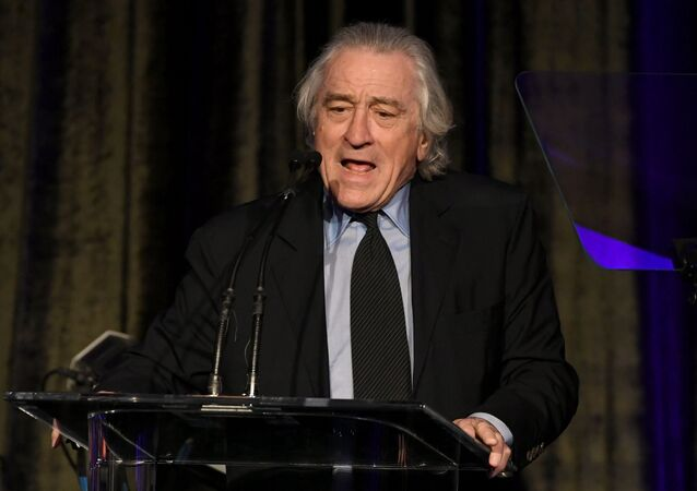Robert De Niro speaks onstage at the American Icon Awards at the Beverly Wilshire Four Seasons Hotel on May 19, 2019 in Beverly Hills, California