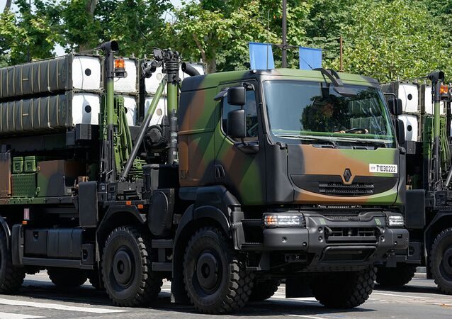 SAMP-T Mamba (Aster 30) mounted on a transporter erector launcher vehicle
