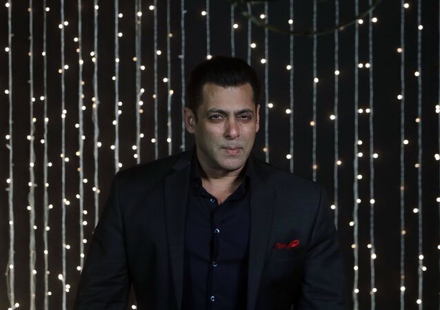Bollywood actor Salman Khan poses for photographs at Priyanka Chopra and musician Nick Jonas wedding reception in Mumbai, India, Thursday, Dec 20, 2018