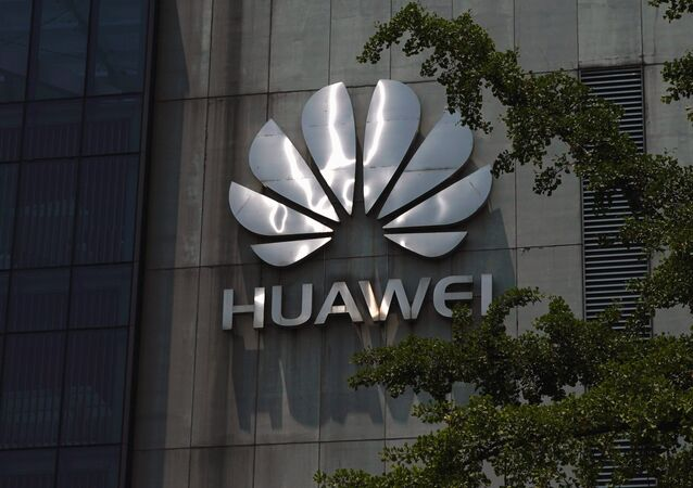 A Huawei company logo is seen at Huawei's Shanghai Research Center in Shanghai, China May 22, 2019