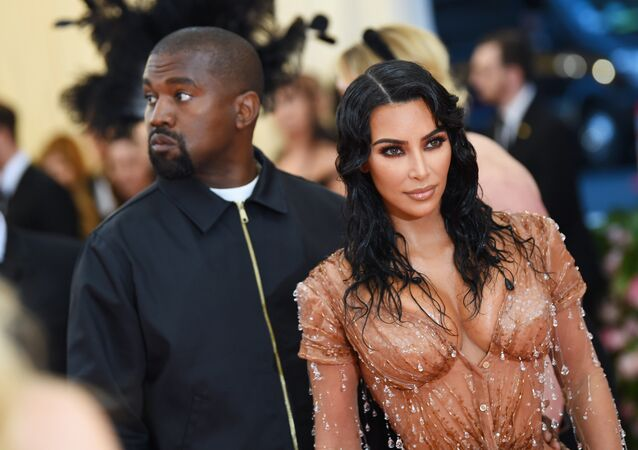 Kim Kardashian West and Kanye West attend The 2019 Met Gala Celebrating Camp: Notes on Fashion at Metropolitan Museum of Art on May 06, 2019 in New York City.